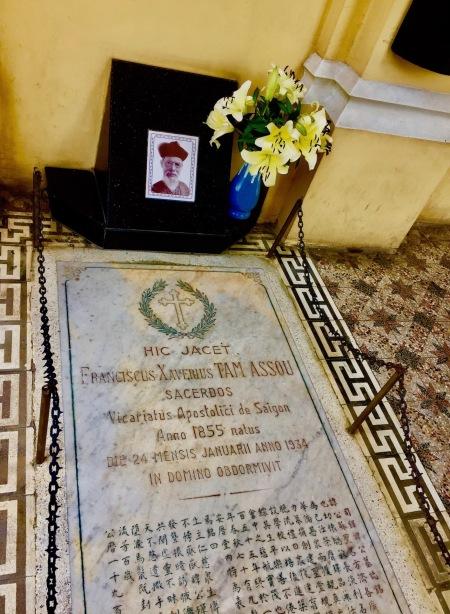 Gravestone Francois Xavier Tam Assou Cha Tam Church Ho Chi Minh Vietnam