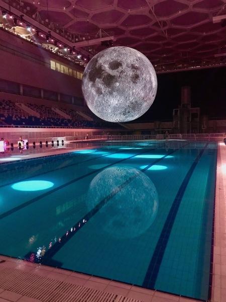 Luke Jerram's Museum of the Moon The Water Cube National Aquatics Center Beijing