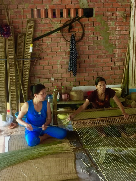 Mat weaving Nhon Thanh Village The Mekong Delta