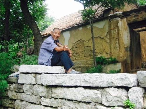 Old man Zhujiayu Village Shandong Province China