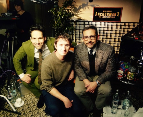 Paul Rudd and Steve Carell interview Anchorman 2 London Decemebr 2013