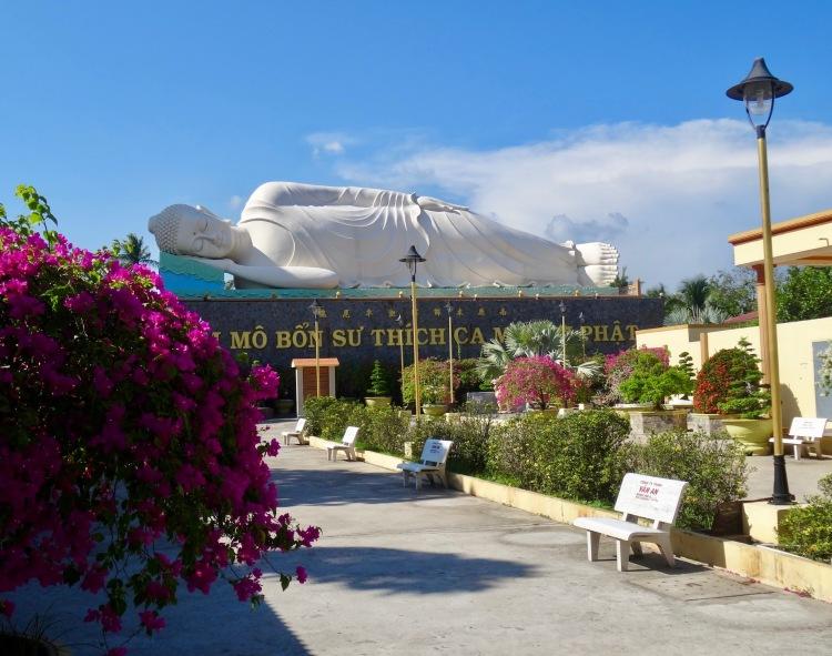 Reclining buddha Vinh Trang Pagoda The Mekong Delta