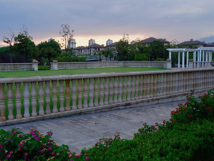 Sunset Jinhua Architecture Park Zhejiang province China