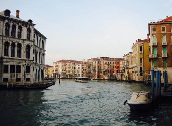 The Grand Canal from Rialto Bridge Venice