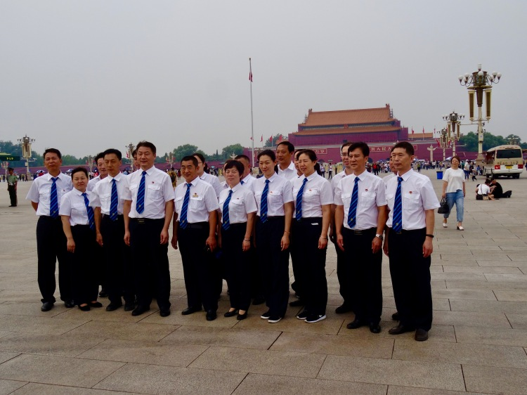 Group photo Tiananmen Square Beijing