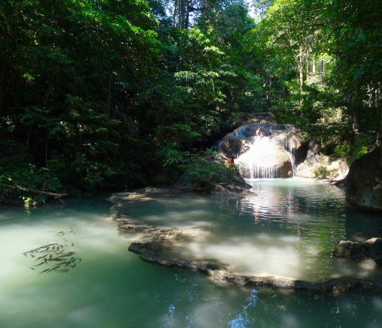1st tier waterfall Erawan Falls Erawan National Park Kanchanaburi Thailand