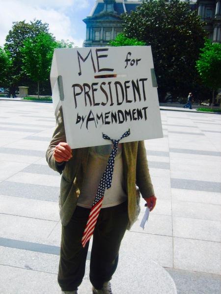 Amusing protester Pennsylvania Avenue The White House Washington DC
