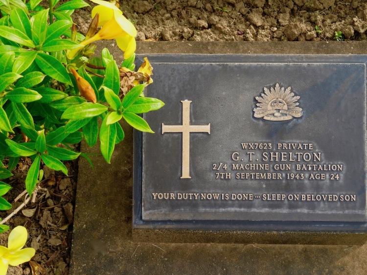 British soldier grave Kanchanaburi War Cemetery Thailand
