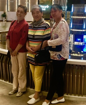 Chinese grandmothers Zifeng Tower Nanjing China