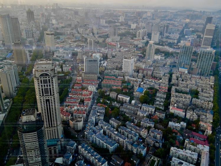 City views from Zifeng Tower Nanjing China