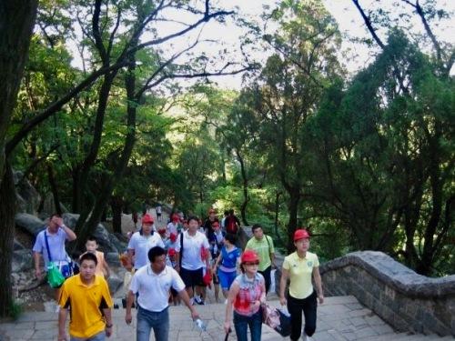 Climbing Taishan Mountain Shandong Province China