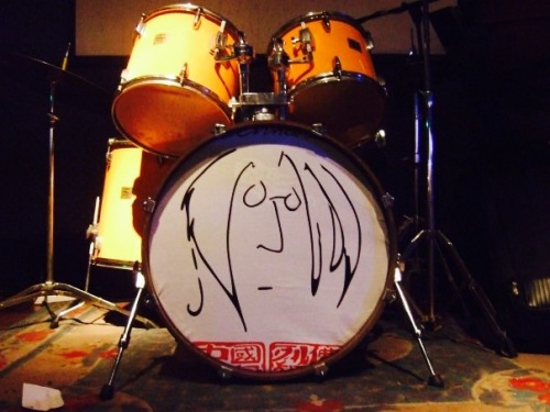 Drum kit Lennon Bar Qingdao Shandong province China
