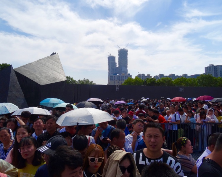 Golden Week crowds Nanjing Massacre Memorial China