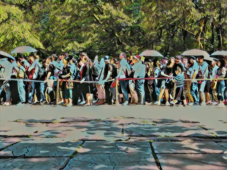 Golden Week queues Ming Tomb Nanjing China