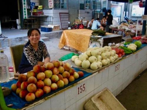 Indoor food market Tai'an Shandong Province China