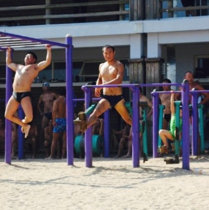 Monkey bars Beach Number 1 Qingdao Shandong province China