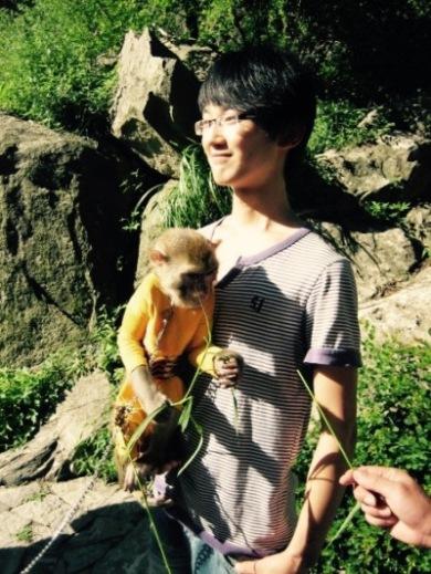 Monkey man Taishan Mountain Shandong Province China