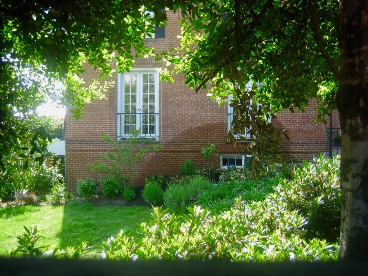 Regan's window The Exorcist House Georgetown Washington DC