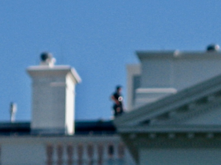 Roof sniper The White House Washington DC