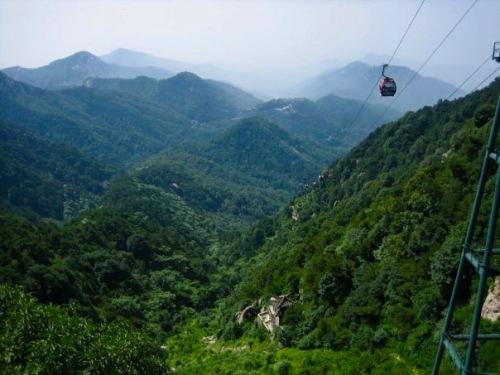 Summit views Taishan Mountain Shandong Province China