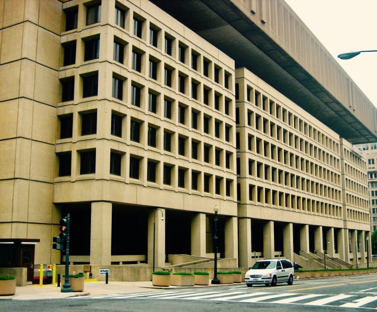 The J. Edgar Hoover FBI Building Washington DC