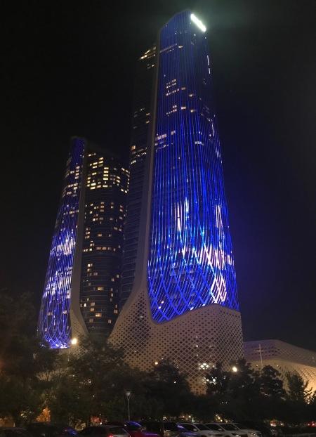 The Jumeirah Hotel by night Nanjing China