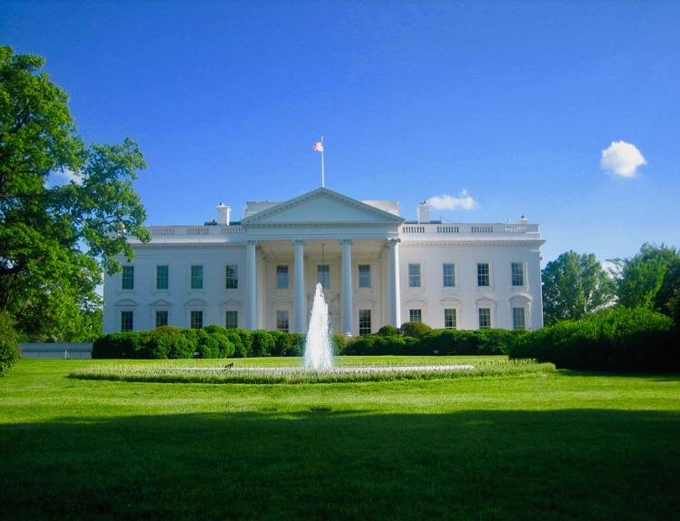 The White House North Lawn Pennsylvania Avenue Washington DC