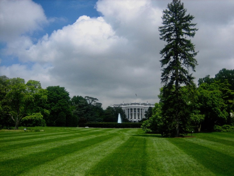 The White House South Lawn Washington DC USA