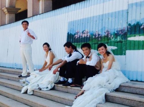 Wedding photoshoot St. Michael's Cathedral Qingdao Shandong Province China
