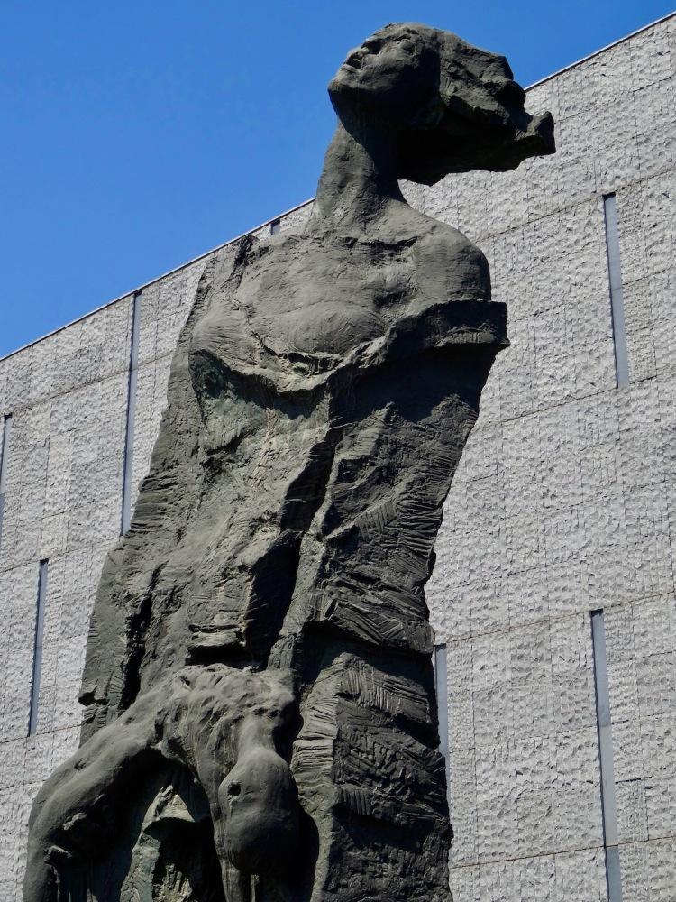 Weeping woman sculpture Nanjing Massacre Memorial China