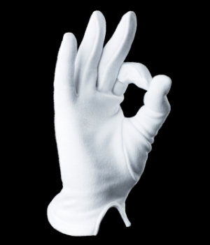white Michael Jackson style snooker and pool glove