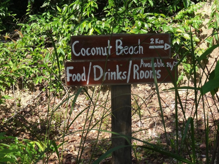 Hiking from Nature Beach to Coconut Beach Koh Rong Cambodia