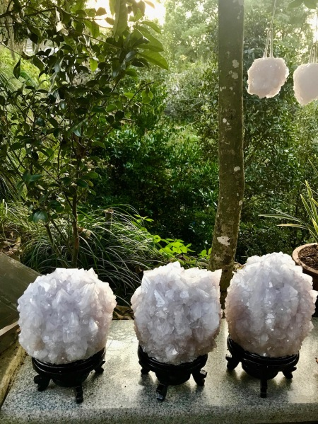 Alum crystal balls Fudewan Ancient Village Cangnan County Zhejiang Province China