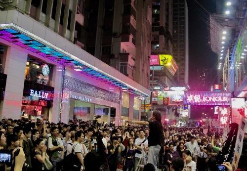 Anti Chinese government demonstrations Causeway Bay Hong Kong May 2010