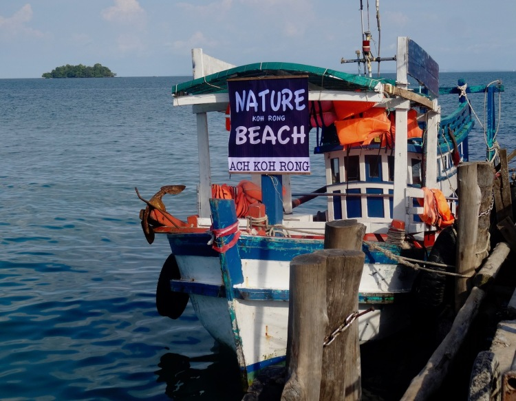 Boat transfer from Koh Touch Village to Nature Beach Koh Rong Cambodia