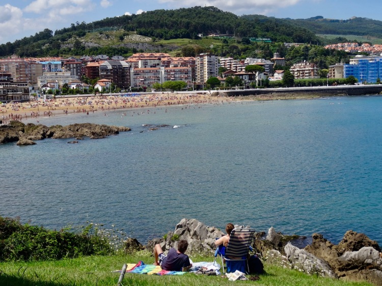 Brazomar Beach from Cotolino Park Castro Urdiales Spain