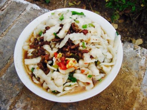 Cha Ge Dou Newt like noodles Pingyao Shanxi Province China