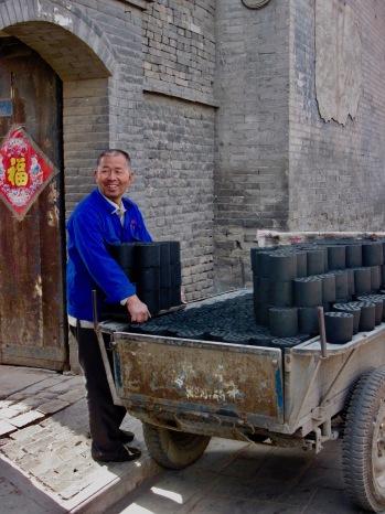 Charcoal briquettes Pingyao Shanxi Province China