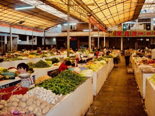 Chinese Farmer's Market Yangshuo Town Guangxi China