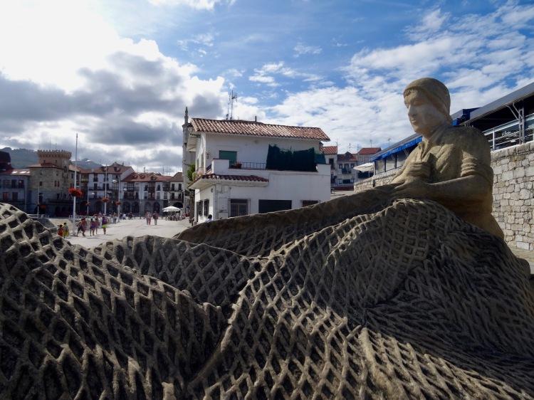 Fisherman statue Castro Urdiales Spain