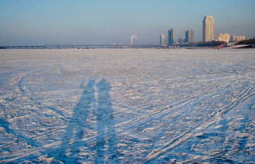 Frozen Songhua River Harbin China