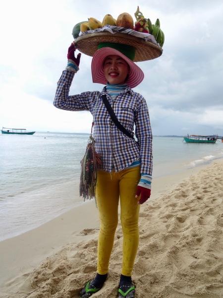 Fruit lady Otres Beach 1 Sihanoukville Cambodia