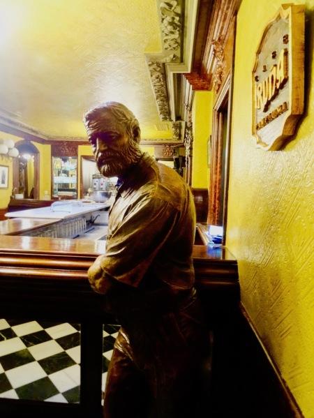 Hemingway Bust Cafe Iruna Plaza del Castillo Pamplona Spain