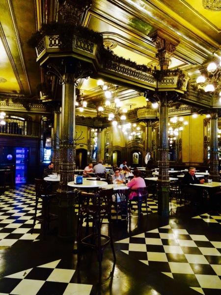 Interior Cafe Iruna Plaza del Castillo Pamplona Spain