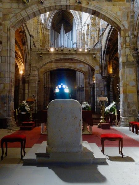 Interior Church of Santa Maria Assunta Castro Urdiales Spain