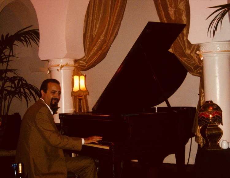 Isaam Chabaa pianist Rick's Cafe Casablanca Morocco