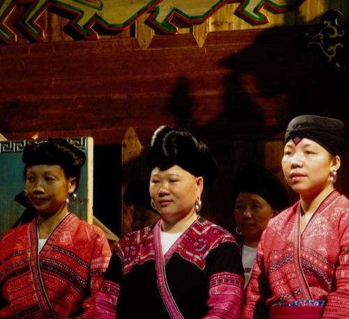 Long hair ladies performance Huangluo Yao Village Guilin Guangxi China