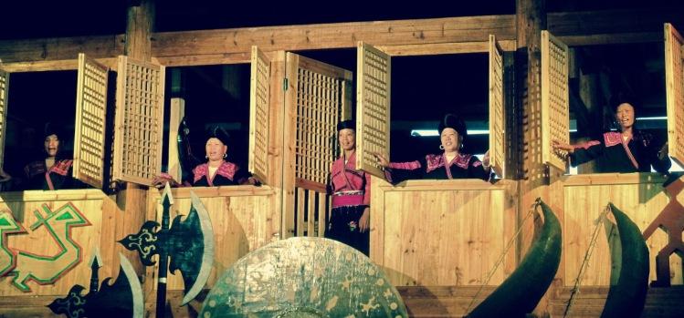 Long haired ladies Huangluo Yao Village Guilin Guangxi China
