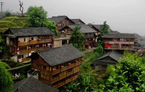 Ping'an Village Dragon's Backbone Rice Terraces Guangxi China