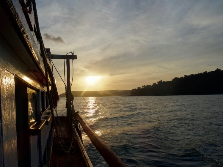Sailing to Nature Beach from Koh Touch Village Koh Rong Cambodia